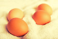 Free Eggs Brown Chicken. Healthy Food Stock Photo - 29354310