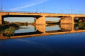 Free Bridge At Sunset. Stock Photo - 29358510