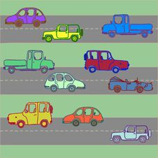 Free Variegated Cars On Roads Royalty Free Stock Image - 29351406