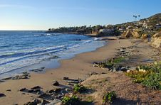 Laguna Beach, California Coastline By Heisler Park During The Winter Months Stock Images