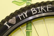 Free Love My Bike Stock Image - 29353581