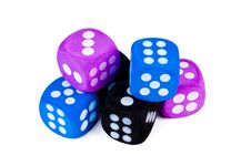 Free Stack Of Big Dice On White. Royalty Free Stock Image - 29353726