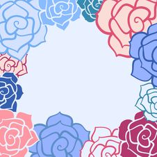 Free Rose Flower Frame Royalty Free Stock Photos - 29354268