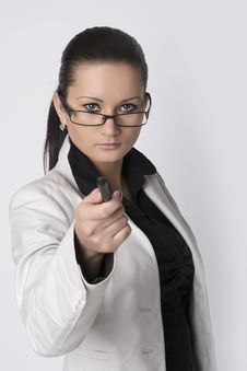 Free Business Woman Wearing Glasses Royalty Free Stock Photo - 29356155