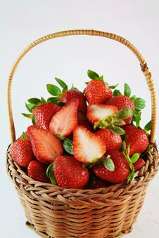 Free Basket Full Of Strawberries Stock Photos - 29356223