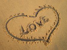 Heart Love Beach Royalty Free Stock Photography