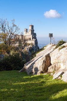 Castle Of San Marino Royalty Free Stock Image
