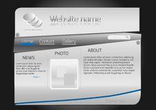 Free Website Design Steel Template Stock Photos - 29365373