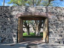 Free Cove Fort Entry Gate Stock Photo - 29366090
