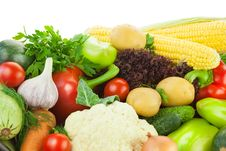 Free Fresh Healthy Vegetables / Big Assortiment / With Copy Space Stock Photos - 29366283
