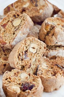 Free Biscotti With Hazelnuts And Apricots Royalty Free Stock Photos - 29368758
