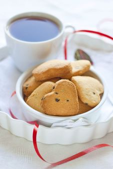 Free Valentine`s Day Cookies Royalty Free Stock Photos - 29368928