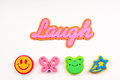 Free The Word Laugh With Foam Graphics Stock Photos - 29372393