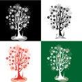 Free Kit With Snowflakes Trees Royalty Free Stock Photos - 29378718
