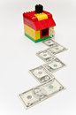 Free House And Money Road. Stock Images - 29379514