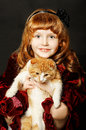 Free Girl With A Kitten Royalty Free Stock Images - 29379939