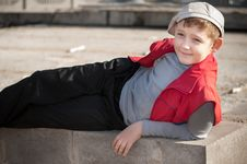 Boy In Cap Stock Images