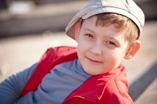 Boy In A Cap Stock Image