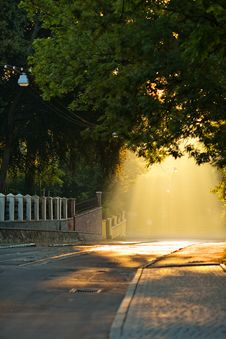 Free Street At Sunrise Royalty Free Stock Photo - 29375915