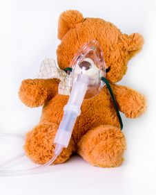 Oxygen Mask On A Bear Stock Photography