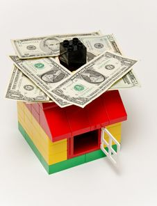 Free House And Money Stock Images - 29379434