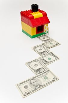 House And Money Road. Stock Images