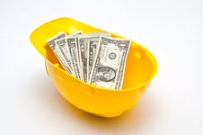 Free Helmet And Cash Royalty Free Stock Image - 29379696