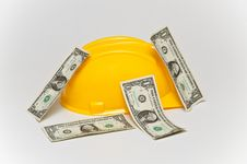 Free Helmet And Cash Stock Image - 29379711