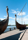 Free Two Old Drakkar Boats Of The Vikings Royalty Free Stock Images - 29382589