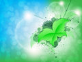 Free Green Leaf Butterfly Background Royalty Free Stock Photos - 29386818