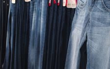 Free Jeans Selling Stock Photography - 29380422
