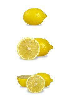 Free Lemon Set Royalty Free Stock Photography - 29380787