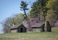 Free Two Log Cabins On Hill Stock Photos - 29383723