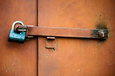 Free The Metal Door Closed On The Lock Stock Images - 29385584