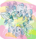 Free Sketch Illustration Of Flowers Royalty Free Stock Photos - 29395098