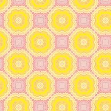 Free Seamless Pattern With Yellow Flowers Royalty Free Stock Photos - 29391328