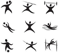 Free Sport Icons Royalty Free Stock Images - 29391339