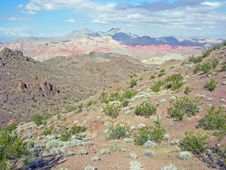 Free View Of Bowl Of Fire From The Hamblin Peak Area Near Lake Mead, Nevada. Royalty Free Stock Images - 29391349
