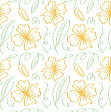 Free Flower Outline Pattern Stock Photography - 29391352