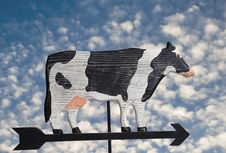 Cow Weather Vane Royalty Free Stock Images