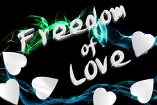 Freedom Of Love Royalty Free Stock Photography