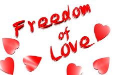 Freedom Of Love Stock Images