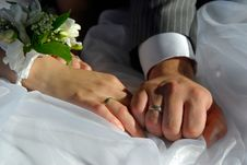 Free Bride And Groom Hands Royalty Free Stock Image - 2940456