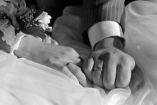 Free Bride And Groom Hands Stock Photos - 2940603