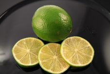 Free Lime And  Slice Royalty Free Stock Photo - 2941515