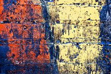 Free Grunge Painted Brick Wall Stock Photos - 2942453