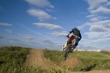 Free Flying Moto Stock Photos - 2942803