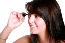 Free Putting On Makeup Royalty Free Stock Photography - 2943007