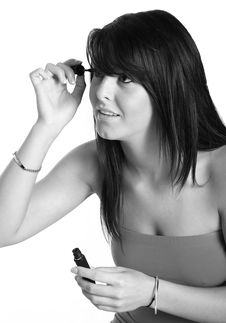 Putting On Makeup Stock Image