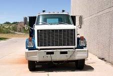 Free Flat Bed Truck Front Stock Image - 2943171